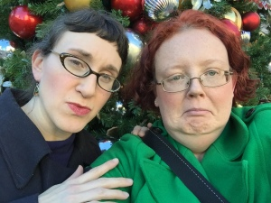 me and Sarah Lilius- concerned