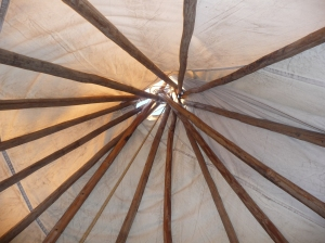inside the tee pee of dreams
